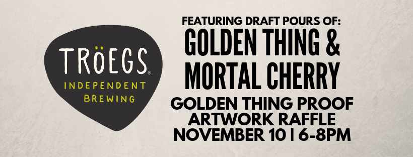 Troegs Tapping + Golden Thing Artwork Raffle